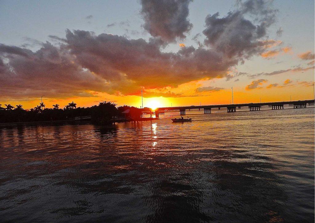 Punta Gorda lovely sunrise in lake